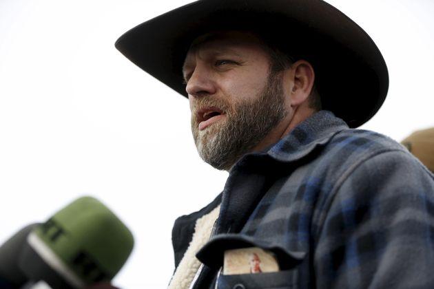 Ammon Bundy addresses the media at the Malheur National Wildlife Refuge near Burns, Oregon in January...