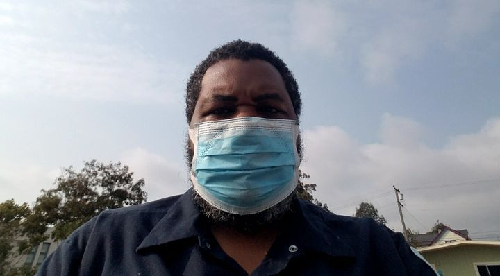 Michael Campbell, a school custodian in Berkeley, California, worries that if in-person classes resume, there will be no way