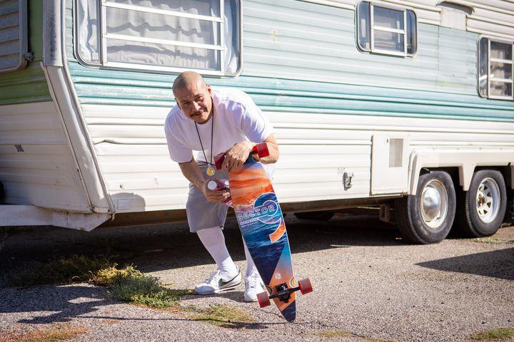TikTok star Nathan Apodaca at his home in Idaho Falls, Idaho.