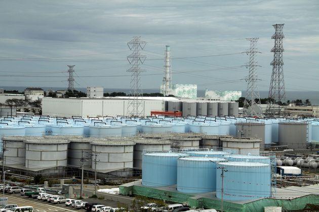 (자료사진) 일본 후쿠시마 제1원전 오염수를 보관하기 위해 세워진 물탱크들. 2017년
