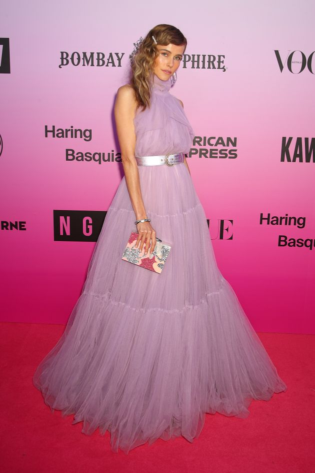 Isabel Lucas attends the NGV Gala on November 30, 2019, in Melbourne. She says her good health made her...
