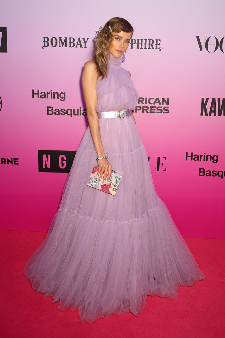 Isabel Lucas attends the NGV Gala on November 30, 2019, in Melbourne. She says her good health made her feel that a coronavirus test was unneeded.