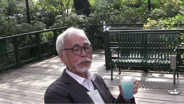 宮崎駿さん、ジブリ美術館のYouTubeに登場。クリームソーダを飲む姿に「ほっこりする」「元気そうで安心」