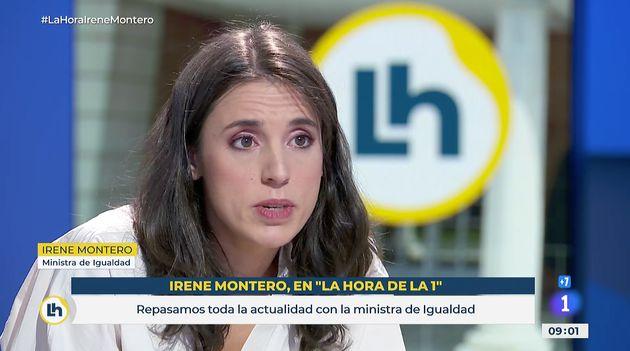 Irene Montero, este viernes en 'La Hora de la