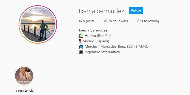 El perfil de Instagram de Txema Bermúdez con más de 10.000