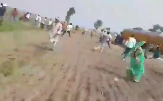 A screenshot from the video of the shooting