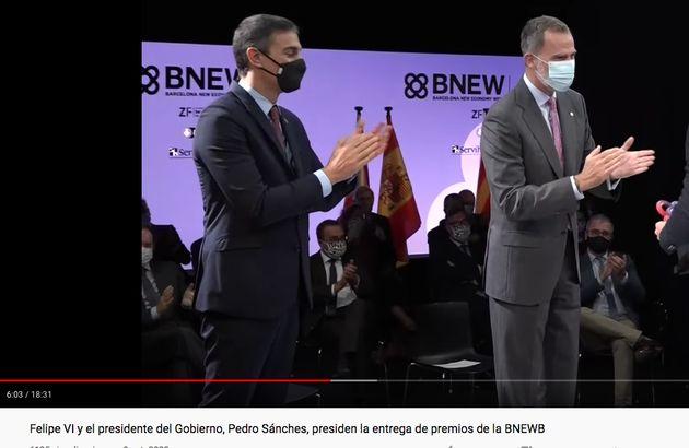 Pedro Sánchez y Felipe VI, en un vídeo de la Casa Real en