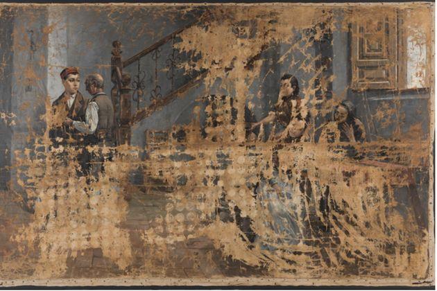 El cuadro de la polémica: 'La marcha del soldado', de Adolfo Sánchez