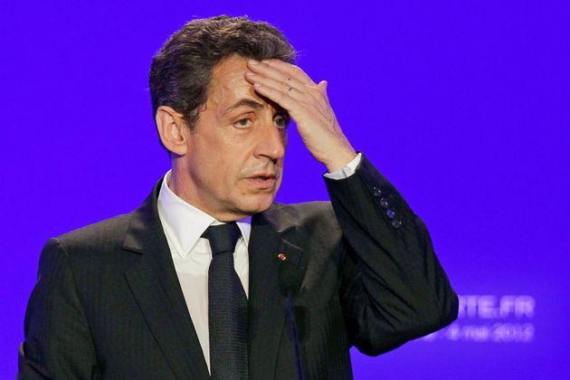 Nicolas Sarkozy, en un mitin en Sables d'Ollonne, en mayo de