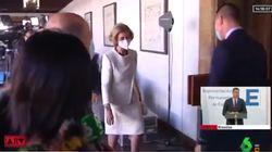 Una periodista pregunta a la reina Sofía si