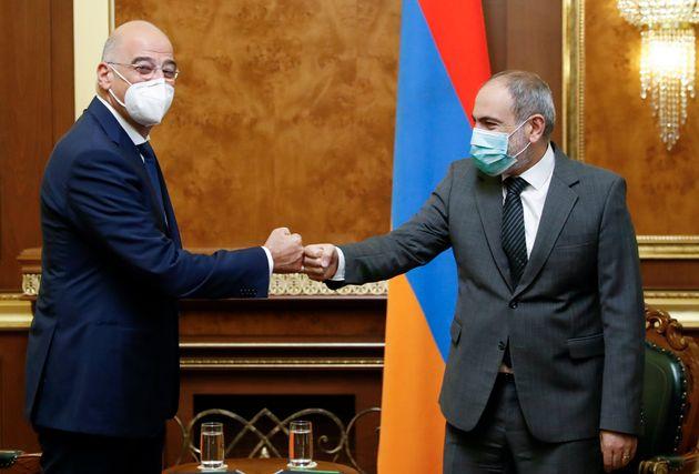 Δένδιας: Ισχυρή φιλία μεταξύ Ελλάδας και Αρμενίας- συζητήσαμε διεύρυνση