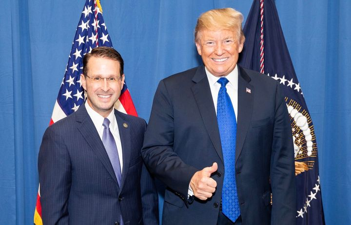 U.S. Attorney Michael Dunavant with President Donald Trump, who appointed him.