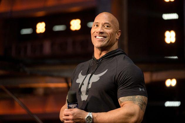 Dwayne Johnson durante la emisión de 'Titan