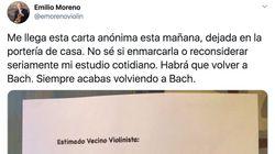 La sorprendente carta que ha recibido en su casa este prestigioso violinista español por lo que hizo en el