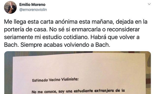 Tuit del violinista Emilio