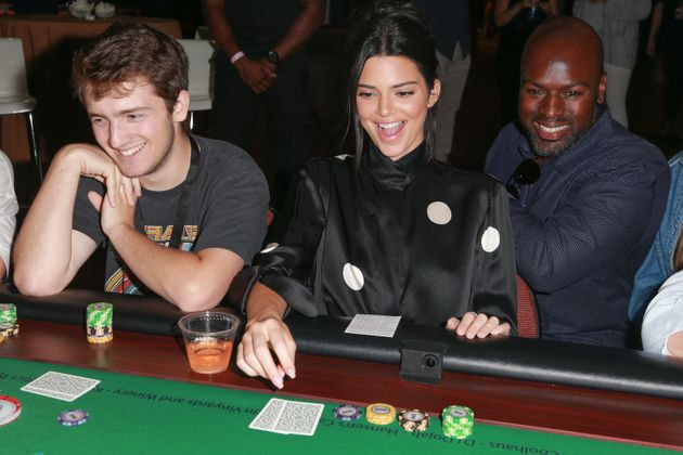 Kendall Jenner and Corey Gamble in happer