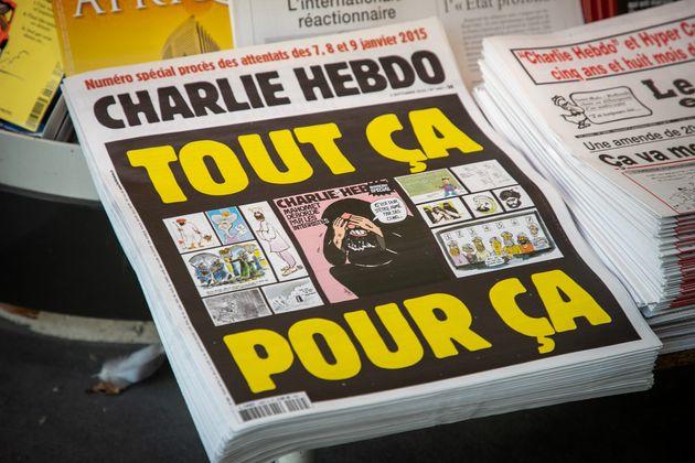Au début du procès des attentats de janvier 2015, Charlie Hebdo avait republié les...