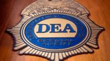 A logo reading DEA Special Agent is pictured in the Office of the US Drug Enforcement Administration (DEA) on  May 29, 2019 in New York City. (Photo by Johannes EISELE / AFP) (Photo by JOHANNES EISELE/AFP via Getty Images)