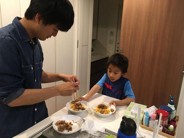 メニューをリクエストされたり、子どもたちも一緒に料理を作ったりすることも