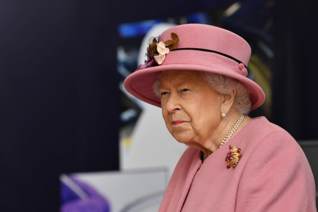 SALISBURY, ENGLAND - OCTOBER 15: Britain's Queen Elizabeth II visits the Defence Science and Technology...