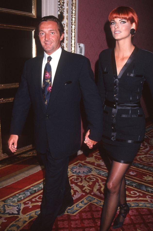 Η Λίντα Εβαντζελίστα με τον Ζεράλντ Μαρί
