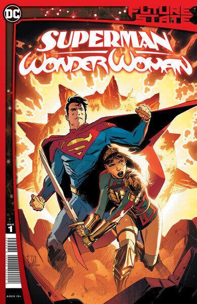 Capa da nova história em quadrinhos com Jon, filho de Clark Kent, e Yara