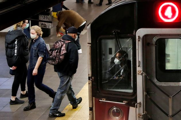 ニューヨークの地下鉄の様子=2020年4月撮影
