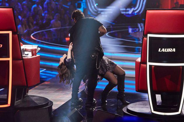 Laura Pausini y Antonio protagonizan muchos de los momentos más divertidos del