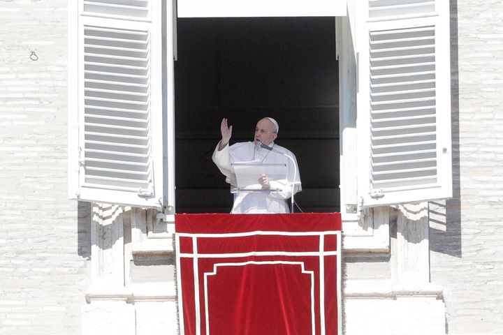 Pope Francis is tested regularly for COVID-19. He is seen delivering the Angelus noon prayer in St. Peter's Square at the Vat