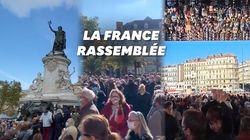 Les images des rassemblements en hommage à Samuel Paty partout en