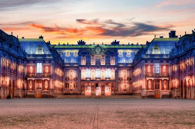 Paris, France - May 2019: Versailles palace near Paris at