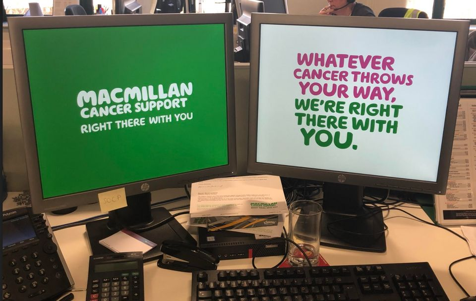 Macmillan Cancer Support is based in Shipley, Yorkshire – but staff are currently working from home