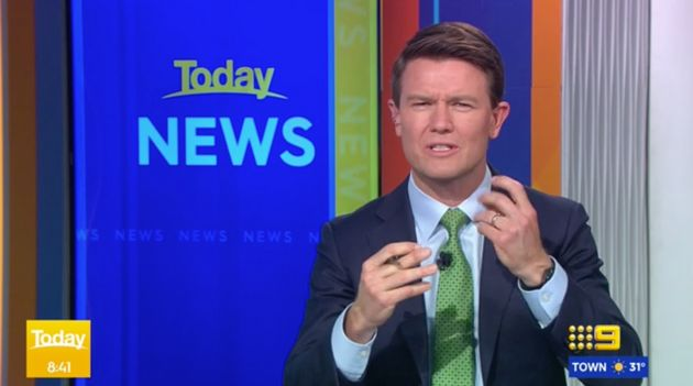 The 'Today' show's news and sports presenter Alex Cullen was forced to explain the source of his croaky...