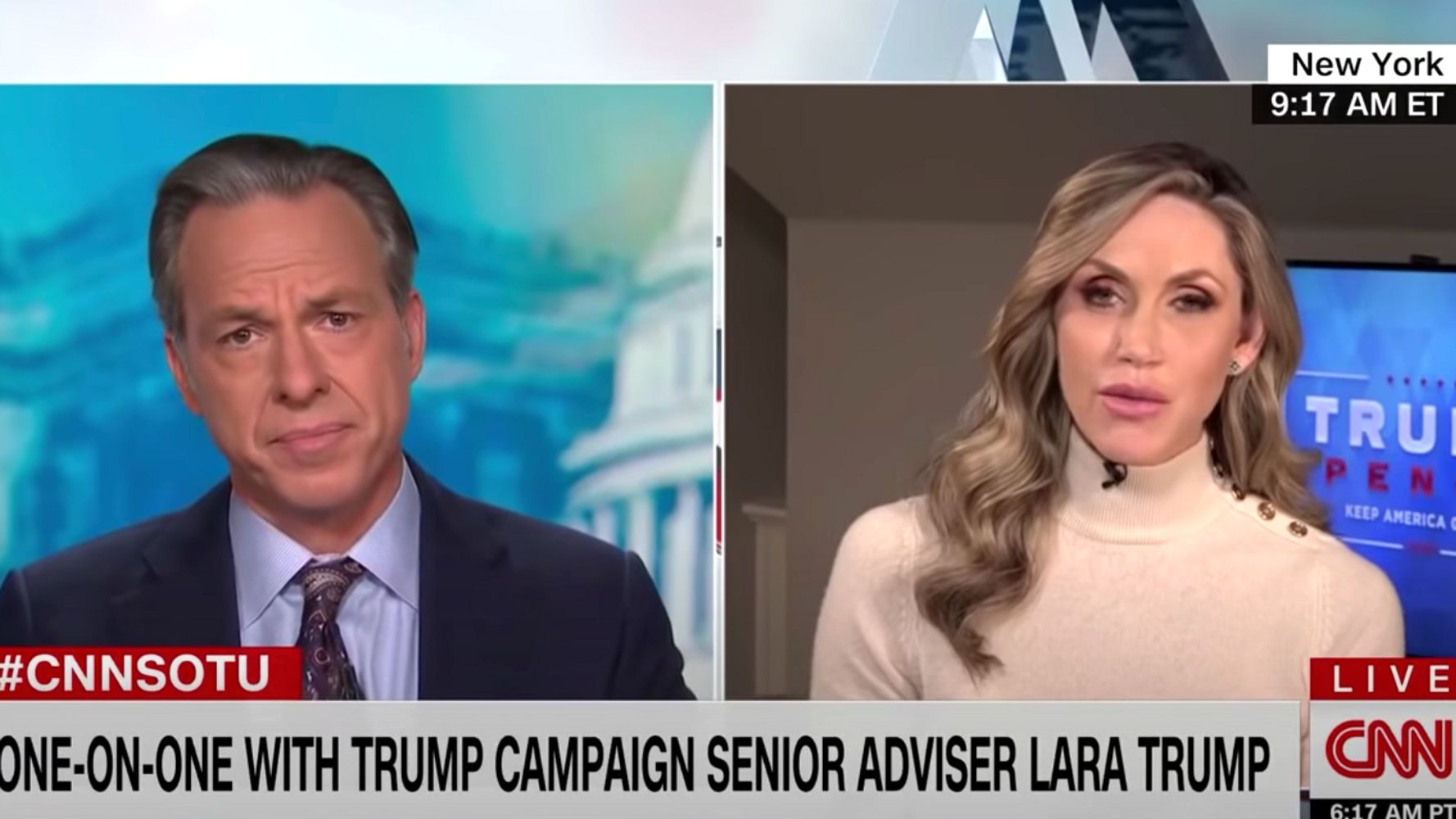 Jake Tapper Abruptly Ends Lara Trump Interview After Shocking Biden Remarks