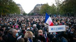 Miles de franceses se concentran al grito de 'Je suis prof' en homenaje al profesor