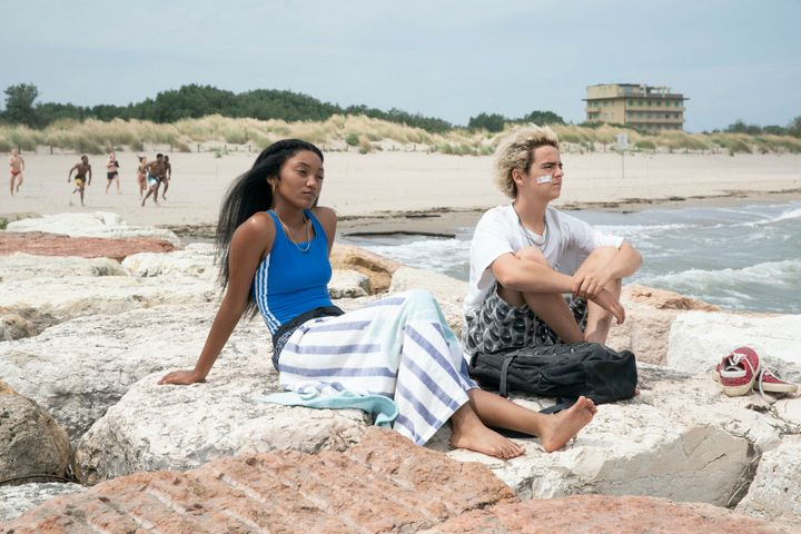 """Actors Jordan Kristine Seamón and Jack Dylan Grazerin a scene from """"We Are Who We Are."""""""