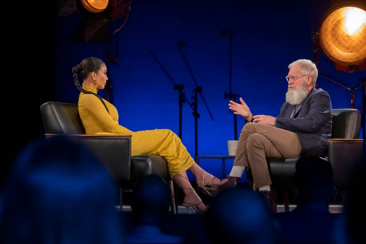 """Kim Kardashian sits down with David Letterman on the first episode of the new season of Netflix's""""My Next Guest Needs No Introduction."""""""