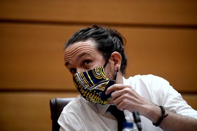 El vicepresidente Pablo Iglesias en el Senado, en una imagen del 8 de