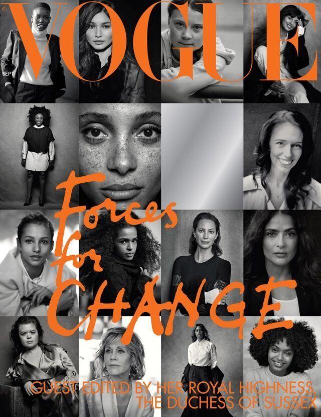 La portada de <i>Vogue</i> de septiembre de 2019 editada por Meghan Markle.