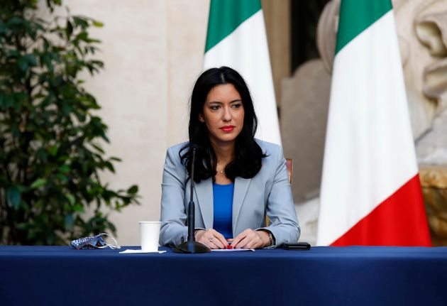 Minister of Instruction Lucia Azzolina during the press conference on anti Covid measures for the reopening...