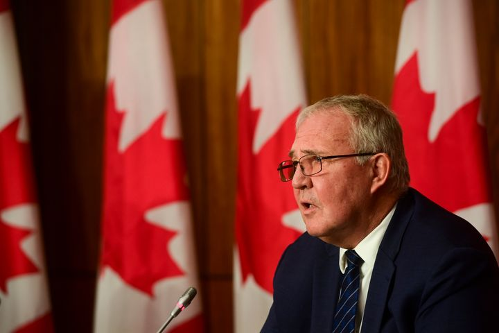 Public Safety Minister Bill Blair takes part in a press conference in Ottawa on Oct. 19, 2020.