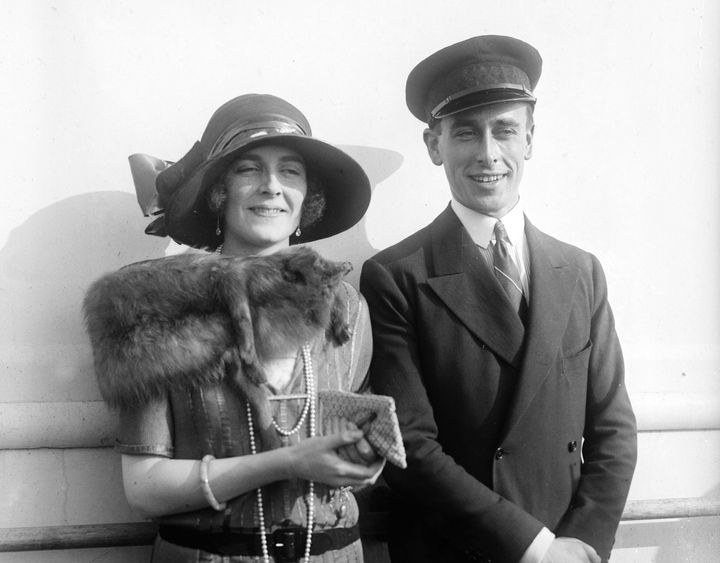 Lord Louis Mountbatten with his then-fiancée Edwina Ashley on April 10, 1922.