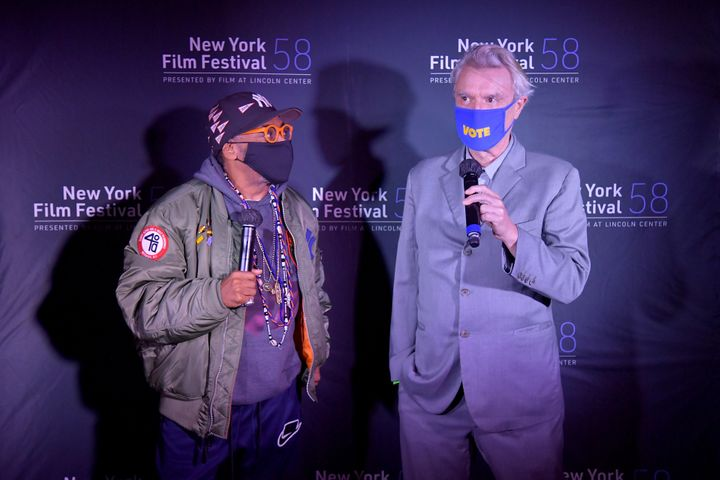 Spike Lee and David Byrne at the New York Film Festival on Oct. 4.
