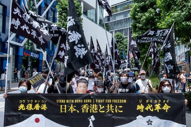 国安法に反対するマーチが2020年7月、表参道や渋谷であった