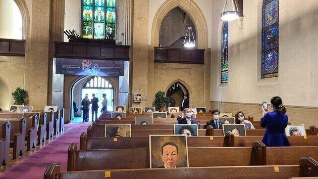 항일 여성독립운동가 75명의 초상화를 전시하는 '피워라'전이 19일 워싱턴 훌리시티 교회에서