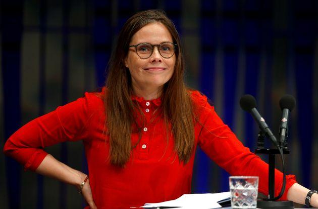 Katrin Jakobsdottir, en agosto de 2019, en un encuentro de líderes nórdicos, en