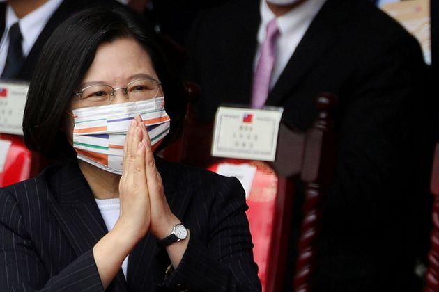 Tsai Ing-wen, en Taipei, en un acto del día nacional, el pasado 10 de