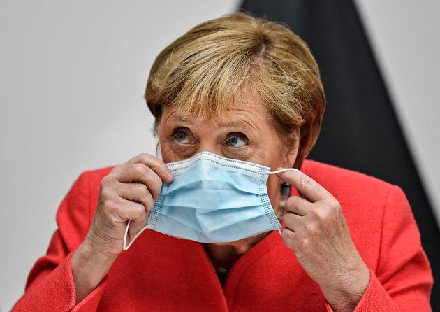 Angela Merkel, en agosto, de visita