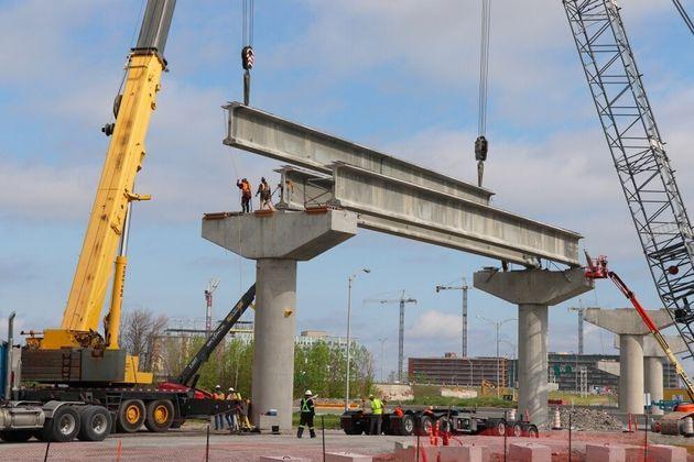Trois stations du REM seront à Brossard. (photo de mai