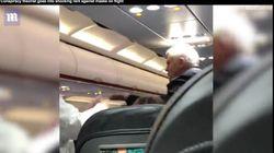 Un pasajero acaba abucheado y abofeteado por su esposa por no querer ponerse la